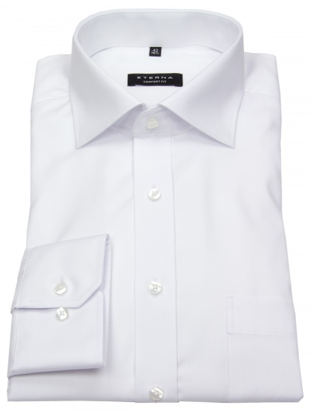 Eterna Hemd - Comfort Fit - blickdicht - weiß - extra langer Arm 68cm - 8817 E19K 00 Al=68
