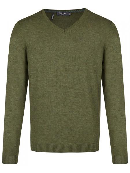 MAERZ Muenchen Pullover - Modern Fit - V-Ausschnitt - Camouflage Green - 403800 205