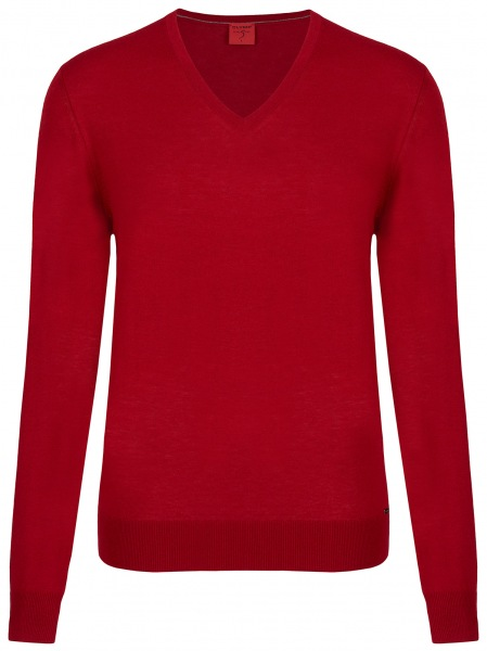 OLYMP Pullover - Level Five - Merinowolle - rot - 0151 10 33