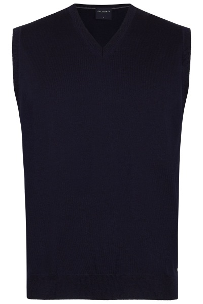 OLYMP Pullunder - Merinowolle - V-Ausschnitt - dunkelblau - 0150 50 18