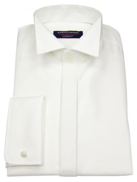 Casa Moda Hemd - Modern Fit - Kläppchen - Umschlagmanschette - beige - 005550 62