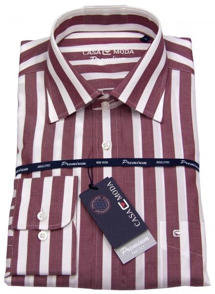 Casa Moda Premium Hemd - Kent Kragen - rot /weiß - 381067700_40
