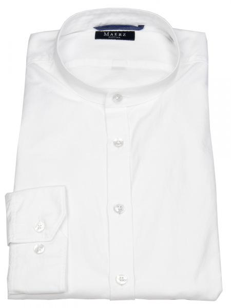 MAERZ Muenchen Hemd - Regular Fit - Stehkragen - weiß - 721500 501