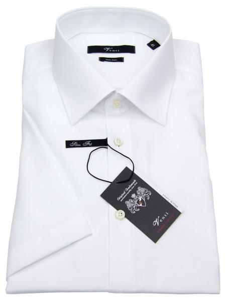 Venti Kurzarmhemd - Slim Fit - weiß - 001620 0