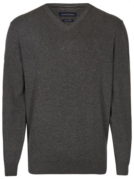 Casa Moda Pullover - V-Ausschnitt - anthrazit - 004430 782