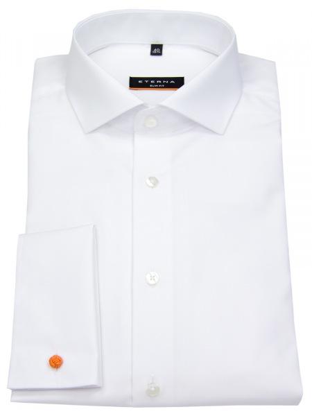 Eterna Hemd - Slim Fit - Umschlagmanschette - weiß - 8500 F482 00