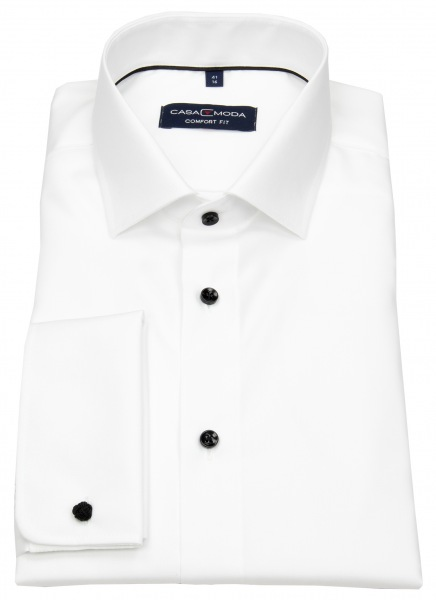 Casa Moda Smokinghemd - Comfort Fit - Kontrastknöpfe - UMA - weiß - 005380 001