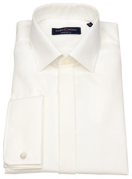 Casa Moda Smokinghemd - Comfort Fit - Umschlagmanschette - beige - 005335 62