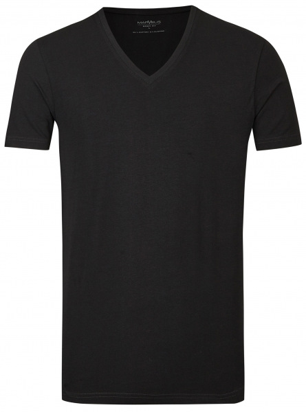 Marvelis T-Shirt Doppelpack - Body Fit - V-Ausschnitt - schwarz - 2820 00 68