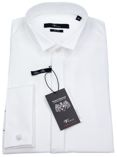 Venti Smokinghemd - Modern Fit - Kläppchenkragen - UMA - weiß - 001940 000