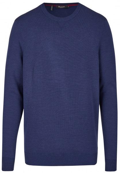 MAERZ Muenchen Pullover - Modern Fit - Rundhals-Ausschnitt - dunkelblau - 471000 391