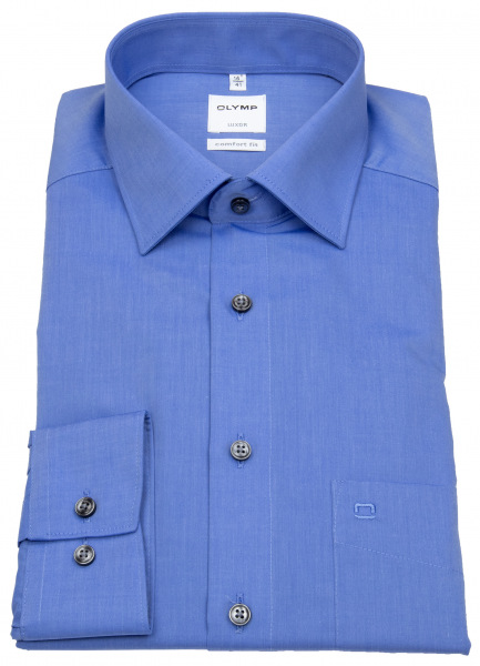 OLYMP Hemd - Luxor Comfort Fit - Chambray - blau - 5131 64 15