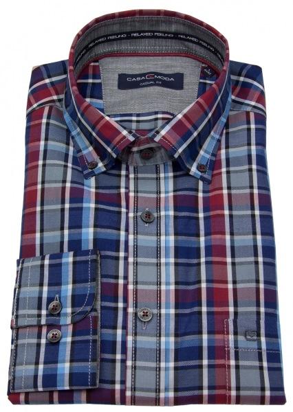 Casa Moda Hemd - Button Down Kragen - mehrfarbig kariert - 483063800 750