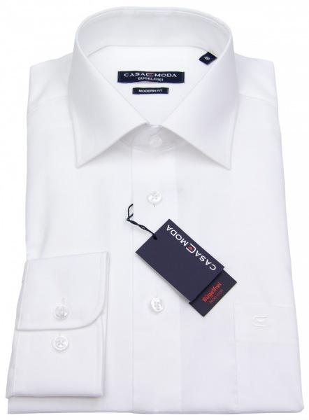 Casa Moda Hemd - Modern Fit - weiß - extra lange Ärmel 69cm - 006569 0