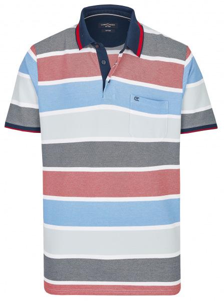 Casa Moda Poloshirt - Casual Fit - Streifen - mehrfarbig - 913578300 448
