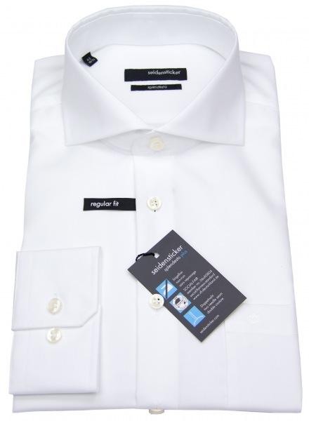 Seidensticker Hemd - Haifischkragen - Fil-a-Fil - weiß - ohne OVP - 003014 01