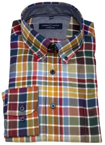 Casa Moda Hemd - Casual Fit - Button Down - mehrfarbig kariert - 403483300 400