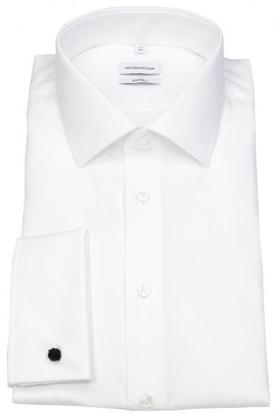 Seidensticker Hemd - Shaped Fit - Umschlagmanschette - weiß - 021006 01