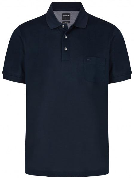 OLYMP Poloshirt - Casual Fit - Piqué - dunkelblau - 5401 52 14