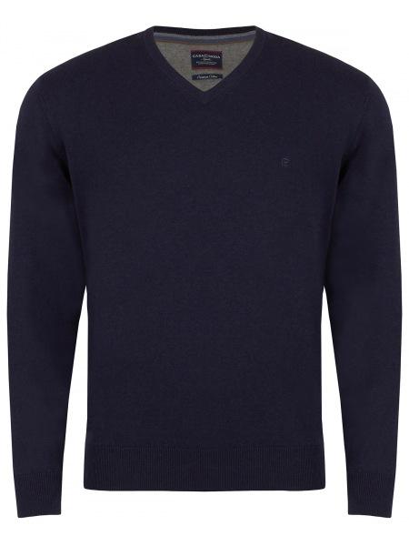 Casa Moda Pullover - V-Ausschnitt - dunkelblau - 004430 135