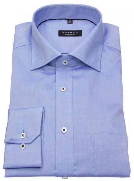 Eterna Hemd - Comfort Fit - Fein Oxford - blau - 8100 E187 12