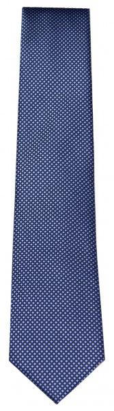 OLYMP Seidenkrawatte - feines Muster - dunkelblau / blau - 1655 00 14