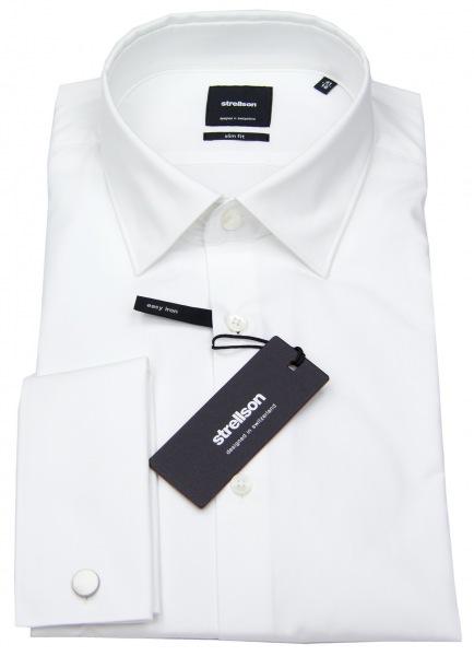 Strellson Slim Fit - Umschlagmanschette - weiß - ohne OVP - 30001560-10000206 10
