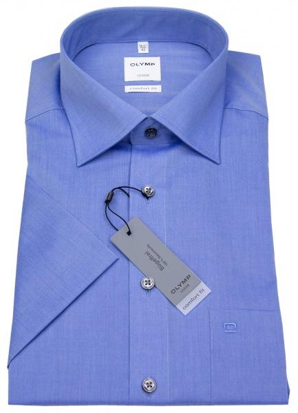 OLYMP Kurzarmhemd - Luxor Comfort Fit - Chambray - blau - 5131 12 15