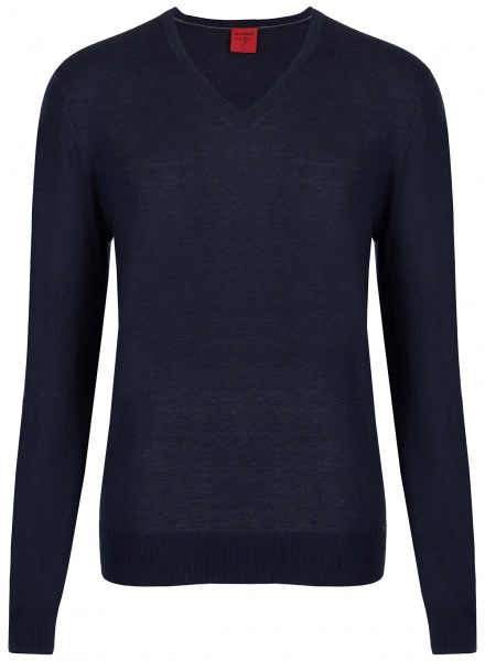 OLYMP Pullover - Level Five Body Fit - Merinowolle - dunkelblau - 0151 10 18