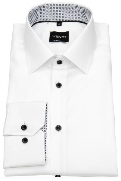 Venti Hemd - Modern Fit - Kontrastknöpfe - weiß - 103412600 001