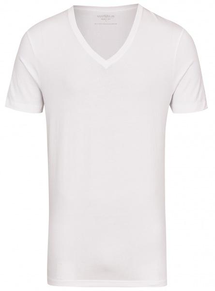 Marvelis T-Shirt Doppelpack - Body Fit - V-Ausschnitt - weiß - 2820 00 00