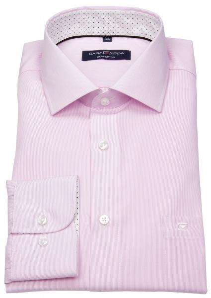 Casa Moda Hemd - Comfort Fit - Streifen - rosé / weiß - 393159500 401