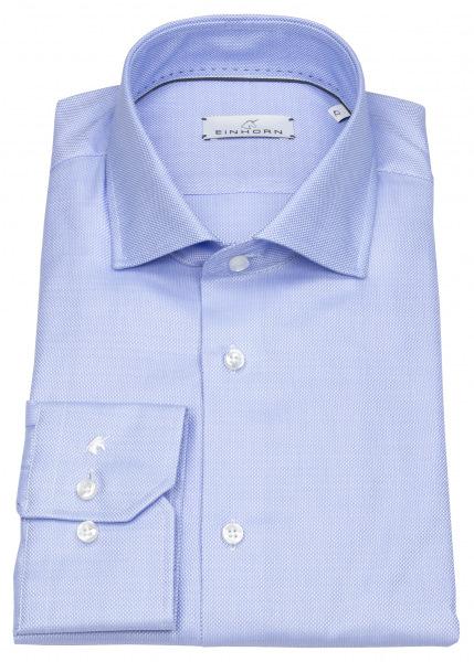 Einhorn Hemd - Modern Fit - Hai - Natté - blau - 903.11320 22