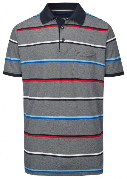 Casa Moda Poloshirt - Casual Fit - Streifen - dunkelblau - 903338900 108