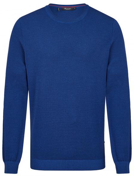 MAERZ Muenchen Pullover - Comfort Fit - Rundhals - Struktur - blau - 453301 361