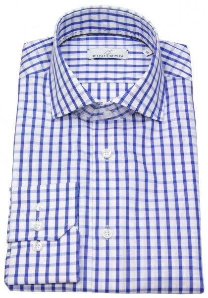 Einhorn Hemd - Modern Fit - Haikragen - kariert - blau / weiß - 382720.5444 5