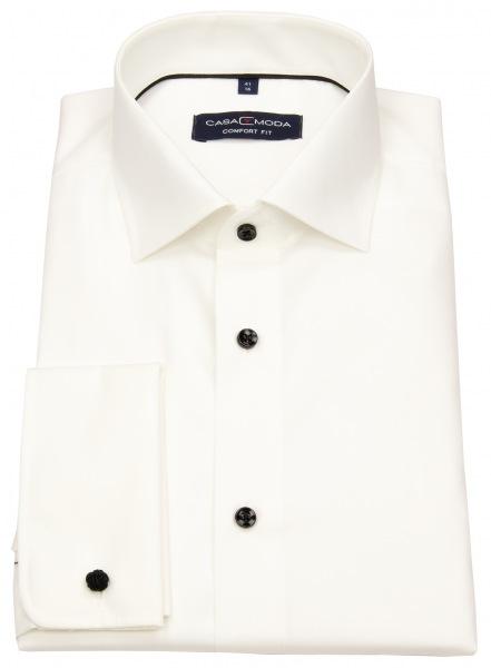 Casa Moda Smokinghemd - Comfort Fit - Kontrastknöpfe - UMA - creme - 005380 003