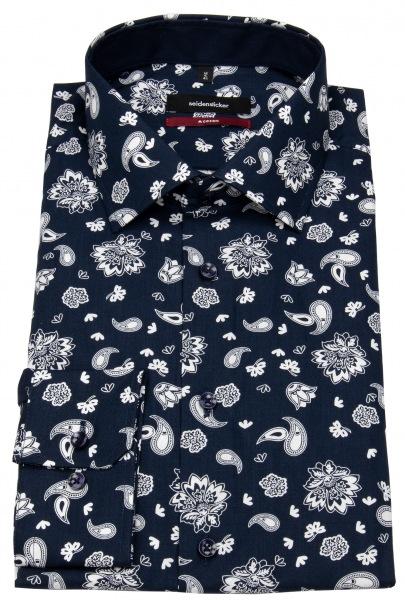 Seidensticker Hemd - Modern Fit - Print - dunkelblau / weiß - 192800.19