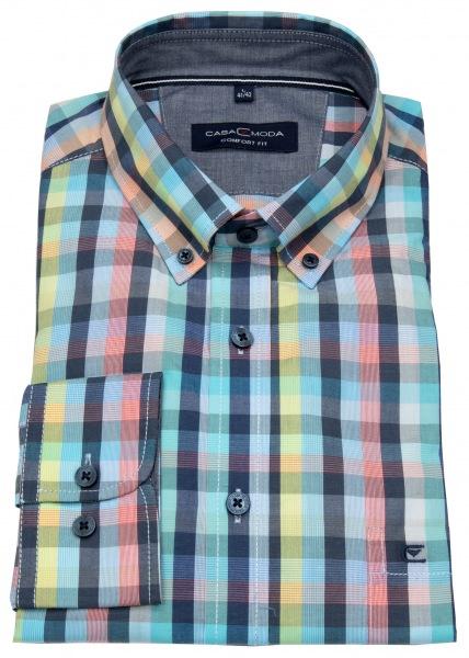 Casa Moda Hemd - Comfort Fit - Button Down Kragen - mehrfarbig kariert - 403440400 100