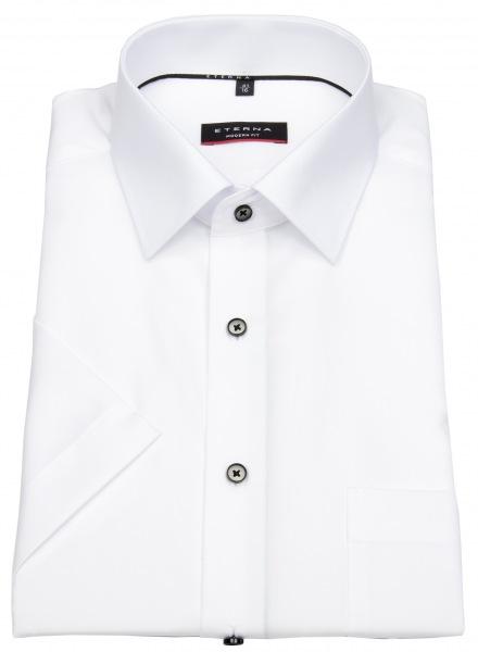 Eterna Kurzarmhemd - Modern Fit - Kontrastknöpfe - weiß - 1301 C19P 00