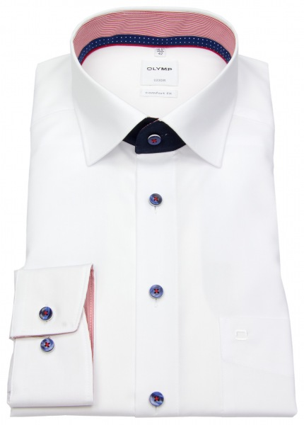 OLYMP Hemd - Luxor Comfort Fit - Patch - Under Button Down - weiß - 0716 64 00