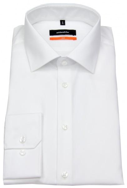 Seidensticker Hemd - Slim Fit - Kentkragen weiß - 675198 01