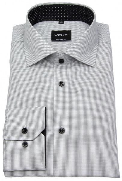 Venti Hemd - Modern Fit - fein kariert - schwarz / weiß - 193158100 800