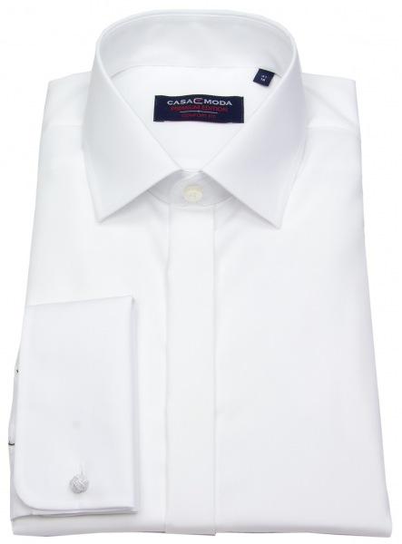 Casa Moda Smokinghemd - Comfort Fit - Umschlagmanschette - weiß - 005335 0