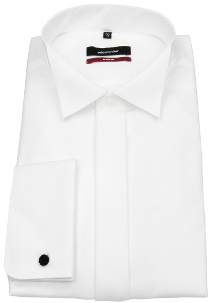 Seidensticker Hemd - Regular Fit - Kläppchenkragen - Umschlagman. - weiß - 001035 01