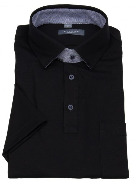 Eterna Poloshirt - Modern Fit - Piquée - schwarz - 2203 C54K 39
