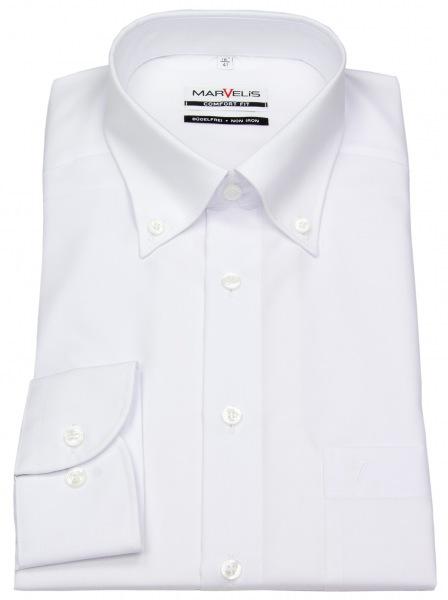 Marvelis Hemd - Comfort Fit - Button Down Kragen - weiß - 7971 64 00
