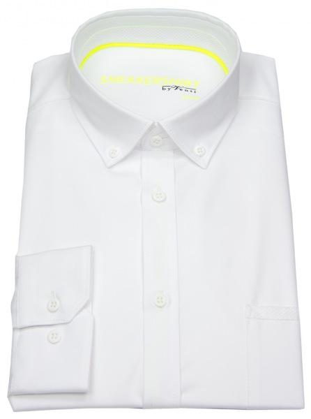 Venti Hemd - Modern Fit - Button Down - Stretch - weiß - 172824900 000