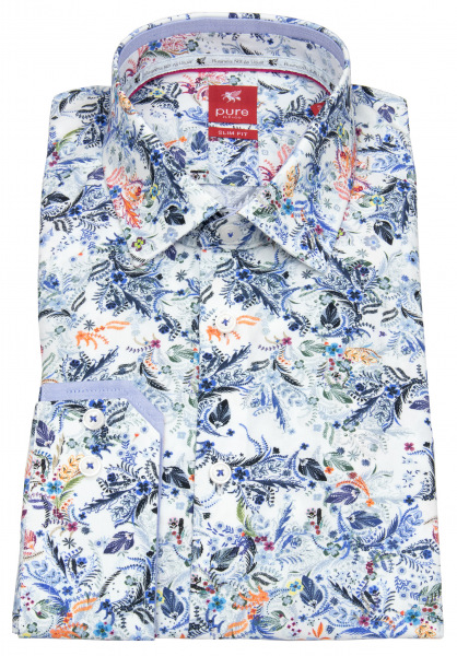 Pure Hemd - Slim Fit - Floraler Print - mehrfarbig - 21031-21102 985