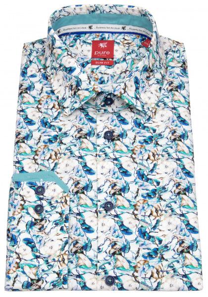 Pure Hemd - Slim Fit - Floraler Print - mehrfarbig - 21020-21106 473